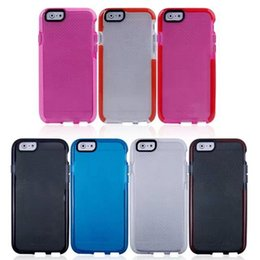 Wholesale Hybrid Cellphone Cases - TE21 Hybrid Transparent Ultra Thin Soft TPU and PC CellPhone Cases cover for iphone7 7plus 6 6splus 5S
