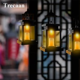 Wholesale Lanterns For Candles Wholesale - Wholesale- 1pcs Classic Outdoor Solar Power LED Candle Light Waterproof Yard Garden Decoration Lantern Hanging Lamp for Yard,Garden