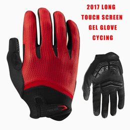 Wholesale Finger Bmx - Long Finger Cycling Glove Gel Touch Screen Mountain Bike Bicycle Gloves for Man MTB BMX DH Off Road Motocross Gloves