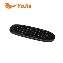 Wholesale Keyboard Track Mouse - [Genuine] 10pcs C120 Air Mouse 6 Axis Sensor 2.4GHz Rechargeable Wireless GYRO Air Fly Mouse Keyboard for Android TV Box order<$18no track