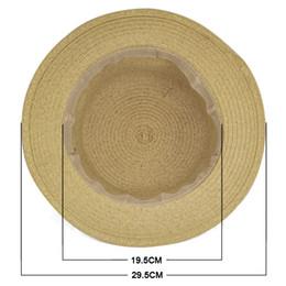 Wholesale Ladies Visors Wholesale - Wholesale- SAF 2016 NEW Sweet Womens Ladies Summer Beach Sun Visor Bowknot Floppy Foldable Straw Hat