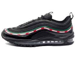 Wholesale fashion boots online - New Boots Undefeated 97 Men Women Sneakers Male Brand Designer Men's OG Black Gorge Green White Speed Red 97s Trainer Shoes Cheap Online