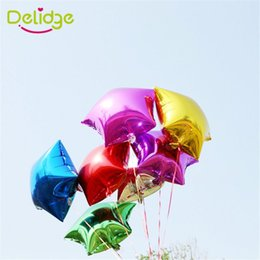 Canada 10pcs / pack cinq-point étoile forme ballon couleur bonbon feuille d'hélium enfants jouet cadeau de mariage noël décoration de fête d'anniversaire Offre