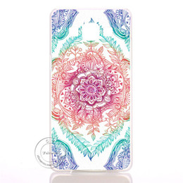Wholesale Galaxy S3 Clear Hard Cases - Mandala Flower Datura Floral Clear Hard Plastic Case Cover For Samsung Galaxy S3 S4 S5 Mini S6 S7 Edge Note 2 3 4 5 7 8
