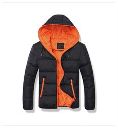 Wholesale Hooded Outwear For Men - Brand Tops 2016 New Men's Cotton Blend Coat Hooded Padded Jacket Casual Thick Outwear For Men Winter Plus Size Clothing For Men