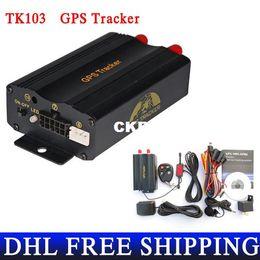 Wholesale Wholesale Pc Software - DHL OR Fedex 20 PIECES Promotion TK103 A Send Original Box Car GPS Tracker Car Alarm Portuguese PC Software