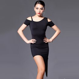 Wholesale Sexy Dance Performance Costumes - 2016 Latin Dance Costumes For Women Cha Cha Rumba Samba Tango Dance Skirt Sexy Plus Size Club Dresses Salsa Performance Dresses