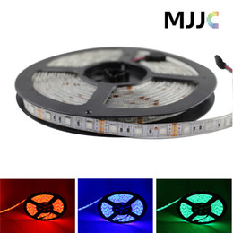 Wholesale 12v Volt Led Light Strips - 5M Waterproof 5050 led strip light rgb 12 or 24 volt led strip lights 60LEDs M Red Blue Green White Warm White RGB