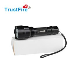 Wholesale best fishing light - Wholesale - Original TrustFire C8-T6 1000LM CREE XM-L T6 LED Flashlight Torch Light Lamp Best Quality Free DHL