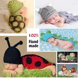Wholesale Crochet Outfits For Boys - Super Lovely!!Soft Adorable Newborn Crochet Outfits Baby Hat Baby Cap Newborn Photography Props For 0-6 Month