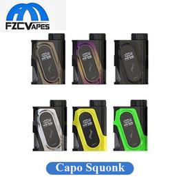 Wholesale Wholesaler Pulses - Authentic Ijoy Capo 100W Squonk Mod with 20700 Battery 3000mAh 40A Lipo Vape Mod vs Vandyvape Pulse Stentorian Ram 100% Original
