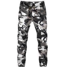 Wholesale Mens Casual Camo Pants - Wholesale-Fashion Mens Camouflage Pants Joggers Baggy Pants Loose Sweatpants Casual Cargo Trousers Camo Joggers Plus Size # A4984