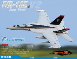 Wholesale Rc Arf Airplane - Wholesale- 90mm EDF F-18E RC Airplane EDF Fighting EPO RC Fixed Wing Airplane PNP ARF KIT Wingspan 37.5in