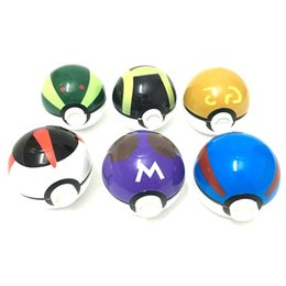 Wholesale Wholesale Metal Pipe Parts - Latest Pokeball Grinder Poke Grinders Herb Tobacco Grinders Metal Zinc Alloy 3 Parts 12 Colors Mixed Send for Bongs Glass Bong Water Pipe