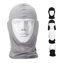 Wholesale face guarding - Balaclava Riding Mask Windproof Full Face Neck Guard Masks Ninja Headgear Hat Riding Hiking Outdoor Sports Cycling Masks