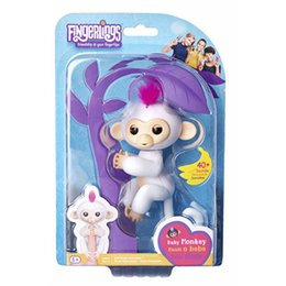 Wholesale Electronic Gifts - 2017 Newest Monkey Fingerlings Interactive Baby Monkey Finger Toys Fingerling 6 Colors Electronic Smart Touch Fingers Monkeys Kid Toy Gifts