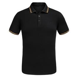 Wholesale Polo Original - Summer 2017 Hot Sellingt Lapel Short Sleeve 100% Pure Cotton Polo T Shirt Black White Original Breathable Embroidery T-shirt Size M-3XL
