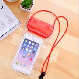 Wholesale Ribbon Storage Bag - Plus Thick Waterproof Phone Bag Environmental Protection Clear PVC Water Resistant Phone Case with Strap for Universal Smartphone