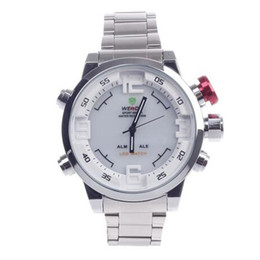 Wholesale Weide Wristwatches - Wristwatch LED Display Waterproof Electronic Stainless Steel Deluxe Sport