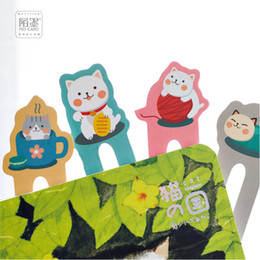 Wholesale Mimi Pc - 150 pcs 1 lot Cartoon Meow Mimi Paper bookmarks bookmarks for books Share book markers tab for books stationery W-SQ-171