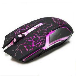 Mouse sem fio de lítio on-line-Top Recarregável Sem Fio Rato Ratos Laser Cracking Luzes 2.4G FPS Gamer Silêncio Bateria De Lítio Build-in High Performance Gaming Mouse