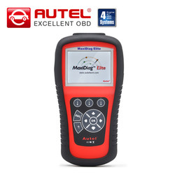 Wholesale scanner maxidiag - 100% Original Autel Maxidiag Elite MD802 4 System 4 IN 1 Code Scanner MD 802 (MD701+MD702+MD703+MD704) + DS Model