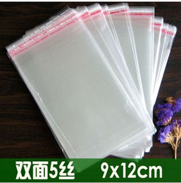 Wholesale Cellophane Bags Wholesale - New Cellophane Bag (9x12cm) with self-adhesive seal for retail or wholesale + free shipping double