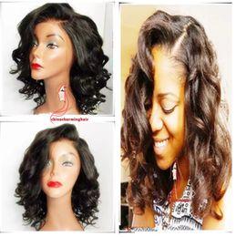 Wholesale Cheap Bob Style Wigs - wavy Bob hair cut style Full Lace Wigs Cheap Lace Front wavy Bob Hair Wigs For Black Women