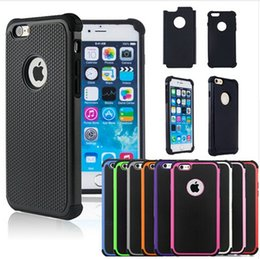 Wholesale Hybrid Hard - For Samsng S8 S8 plus Hybrid Case Rugged Impact Rubber Matte Shockproof Heavy Hard Case for iphone 5 6s 6plus iphone7 7plus