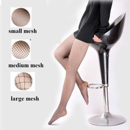 Wholesale Seam Pantyhose - Wholesale-Lady Women Sexy Pantyhose Mesh Fishnet Nylon Tights Long Stocking Jacquard Step Foot Seam Pantyhose High Over the Knee Socks