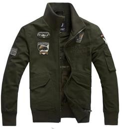 Uomini giacca militari cachi online-Moda Uomo Abbigliamento Maschile Tattico Militare Giacca uomo Verde militare Cachi Nero Giacca imbottita militare Giacca militare 4XL