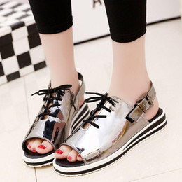 Wholesale Drop Shipping Fishing - 2016 summer new fish head sandals Korean version of casual female student flat with flat sandals open-toed shoes lot drop shipping