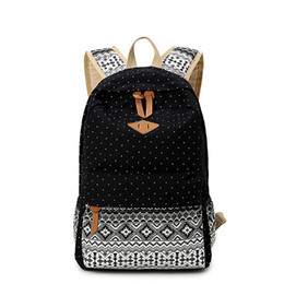 Wholesale Cotton Canvas Bags For Women - Canvas backpack women 2016 backpacks for teenage girls middle school students school bag high quality mochila escolar sac a dos