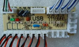 Wholesale Games Posts - HK POST FREE SHIPPING PC joystick PCB, USB joystick PCB with wires, USB controls to Jamma arcade games