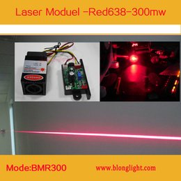 Wholesale Red Laser Ttl - Pro Laser Red Diode DC12V 638nm 300mW Red laser Module with TTL and Fan for RGB laser Stage lighting