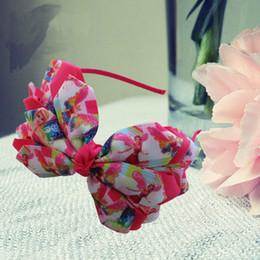 14pcs Nueva Llegada Tres Capas Caracteres Princesa Print Ribbons Floral Headwear 4 .5 -5