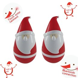 Wholesale Free Christmas Mp3 - New Arrival Santa Claus Speaker Christmas Father Tumbler roly-poly mini wireless Bluetooth speakers Popular Toy as Christmas gift DHL Free