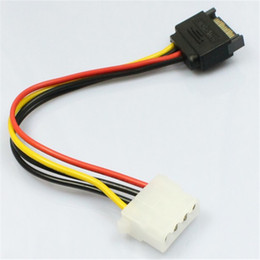 Wholesale Drop Shipping Cables - Wholesale- MOSUNX 15 Pin SATA Male to 4 Pin Molex Female IDE HDD Power Hard Drive Cable Drop Shipping Futural Digital Hot Selling F35
