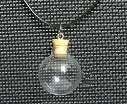 Wholesale Diy Wish Bottles - 16 18 20 25MM Ball With Cork Necklace,glass globes,Wishing bottle pendant,Wishing Bottle Pendant ,DIY glass vials