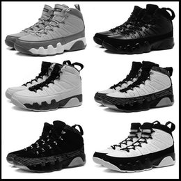 Wholesale Cool Leather Mens Boots - 2017 air retro 9 mens Basketball Shoes Cool Grey Black White authentic sports shoes retro IX Sneakers Boots