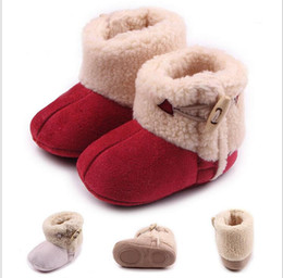 Wholesale High Top Toddler Boots - Wholesale winter Buckle baby toddler shoes,high top Furry Princess snow Shoes,soft kids snow boots,infant walking shoes.9pairs 18pcs.ZH