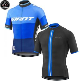 Wholesale Giant Road Cycles - Classical Giant Blue   Black NEW mtb road RACE Team Bike Pro Cycling Jersey   Shirts & Tops Clothing Breathing Air JIASHUO