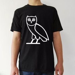 Wholesale Owl Tees - october's very own owl t shirt men casual Man's tee T-shirt Women's summer t short Sleeve black tops woman costume 2017