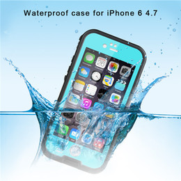 Wholesale Redpepper Iphone Case Cover - Redpepper Shockproof Dustproof Waterproof Case Swimming Surfing Case Cover for iphone 6 6 plus with Retail Box