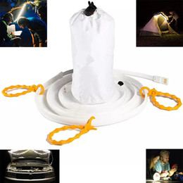 Wholesale White Tent Party - Waterpoof outdoor USB Flexible strip light 1.5m 5ft 5V Tent Lamp for Hiking Camping Emergency warm white 30leds 45leds 60leds