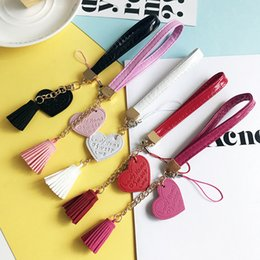 Wholesale Diy Handmade Packaging Materials - New fashion hand rope letters love tassel DIY hand shell material package handmade jewelry accessories for phone