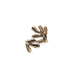Wholesale Coral Branches - 2016 Vintage Branch Rings Alloy Coral Finger Ring Antique Gold Plating Popular for Lady 16mm Inner Diameter Free Shipping
