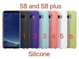 Wholesale Iphone Touch Back - For Samsung S8 S8 Plus official Cellphone Case Silky Soft-touch Finish Cases Candy Colors Case Back Cover with Retail Box