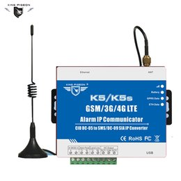 Wholesale Ids Alarm Systems - GSM SMS GPRS Ethernet converter for alarm system converter the PSTN Ademco Contact ID Control panel to SMS alert and SIA K5S
