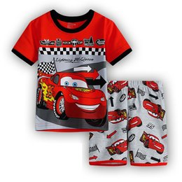 Wholesale Gilrs Clothing - 2016 new Baby Boys Kid SportsWear Tracksuit Outfit cartoon gilrs Suit Summer kids boys clothes sets 2-7y dx22